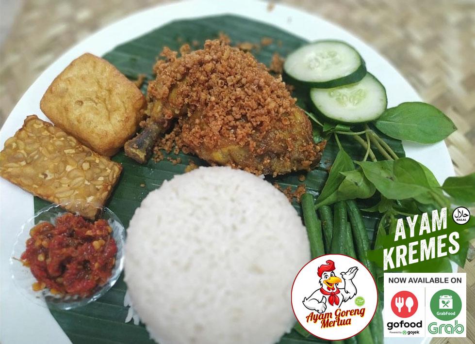 Ayam Kremes Makanan Enak di GoFood GrabFood Denpasar - Bali